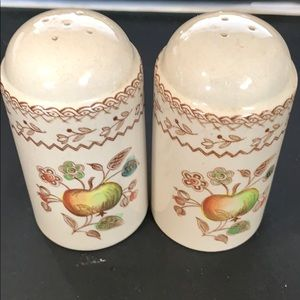 Johnson Bros fruit sampler salt & pepper shakers